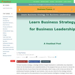 Learn Business Strategy for Business Leadership
