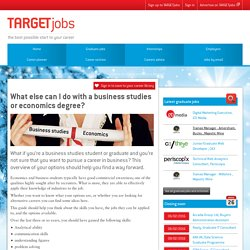Business studies/economics degree career options
