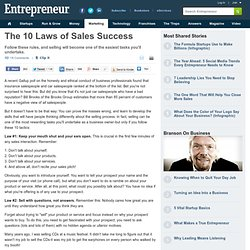 The 10 Laws of Sales Success