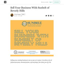 Sell Your Business With Sunbelt of Beverly Hills - D-Pack Prajapat - Medium