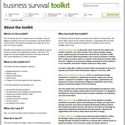 About the toolkit - Business Survival Toolkit : Creative Choices