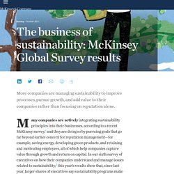 The business of sustainability: McKinsey Global Survey results