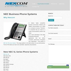 NEC Business Phone Systems
