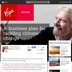 A business plan for tackling climate change