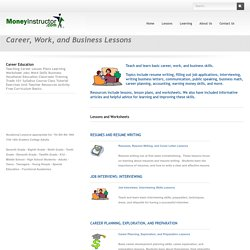 Career, Business Lesson Plans, Teaching Lessons, Worksheets
