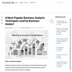 8 Most Popular Business Analysis Techniques used by Business Analyst