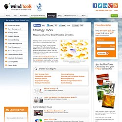 Business Strategy Tools and Techniques from MindTools
