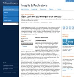 Eight business technology trends to watch