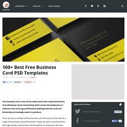 100+ Best Free Business Card PSD Templates