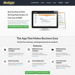 BizGym - FREE business planning & pitch writing system