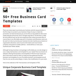50+ Free Business Card Templates
