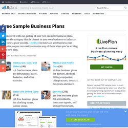 Business Plan Templates and Free Sample Business Plans — Bplans