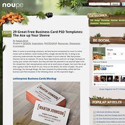 29 Great Free Business Card PSD Templates: The Ace up Your Sleeve