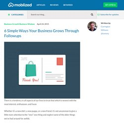 6 Simple Ways Your Business Grows Through Followups