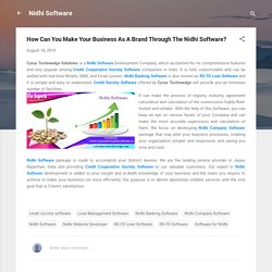 How Can You Make Your Business As A Brand Through The Nidhi Software?