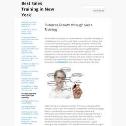 Business Growth through Sales Training