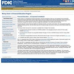 Money Smart - A Financial Education Program