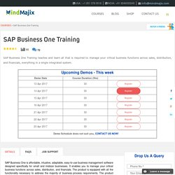 Live SAP Business One Training Classes by Experts