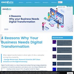 4 Reasons Why Your Business Needs Digital Transformation