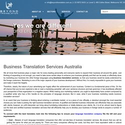 Business Translation Services Australia