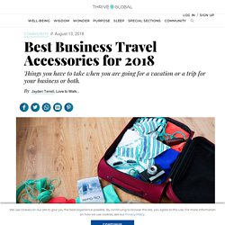 Best Business Travel Accessories for 2018