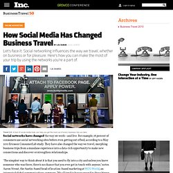 2011 Business Travel 50: How Social Media Has Changed Business Travel