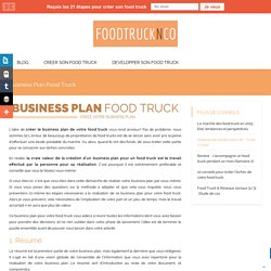 Business Plan Food Truck - Foodtrucknco.fr