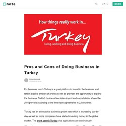 Pros and Cons of Doing Business in Turkey|Wiklundkurucuk|note