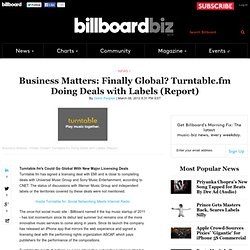 Finally Global? Turntable.fm Doing Deals with Labels (Report)