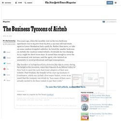 The Business Tycoons of Airbnb - NYTimes.com