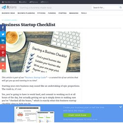 How to Start a Business: The Ultimate Checklist - Bplans Blog