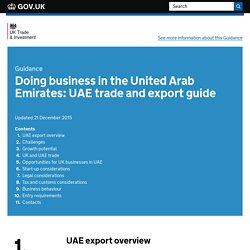 Doing business in the United Arab Emirates: UAE trade and export guide
