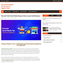 Tips and Tricks Social Media Design to Grow on your Small Business