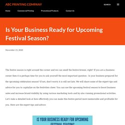 Is Your Business Ready for Upcoming Festival Season?