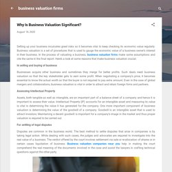 Why Is Business Valuation Significant?
