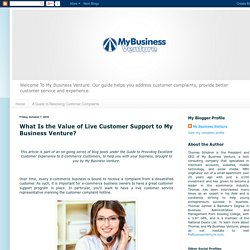 What Is the Value of Live Customer Support to My Business Venture?