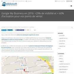 Google My Business en 2016: +29% de visibilité et + 60% d'activation pour vos points de vente!
