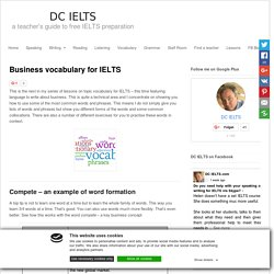 Business vocabulary for IELTS
