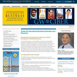 GWSB | School of Business | The George Washington University