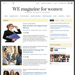 Business | WE magazine for women