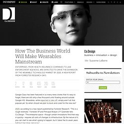 How The Business World Will Make Wearables Mainstream