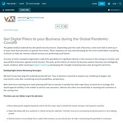 Get Digital Pillars to your Business during the Global Pandemic- Covid19: webmobril — LiveJournal