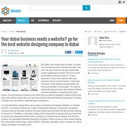 Your dubai business needs a website