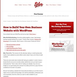 How to Build Your Own Business Website with WordPress