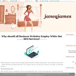 Know Why Businesses Prefer White Hat SEO Services