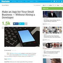 Make an App for Your Small Business