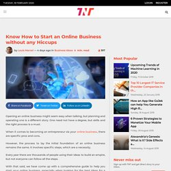 Know How to Start an Online Business without any Hiccups