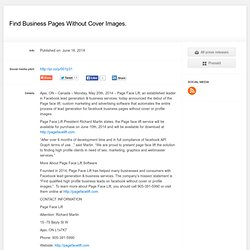 Find Business Pages Without Cover Images