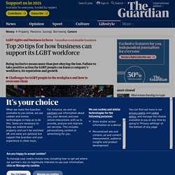 Top 20 tips for how business can support its LGBT workforce