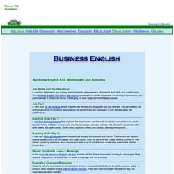 Business English and ESL Worksheets and Activities